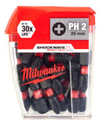 Shockwave bity Phillips PH 2, długość 25 mm, ilość: 25 Milwaukee
